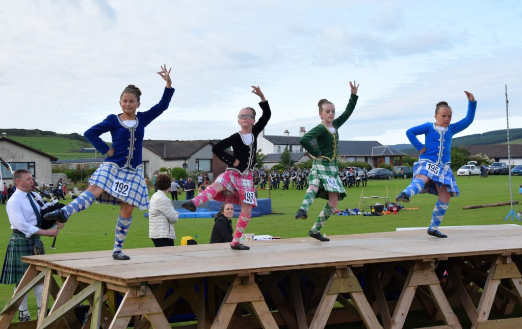 Highland dancers entertained the crowd as they competed for prizes.