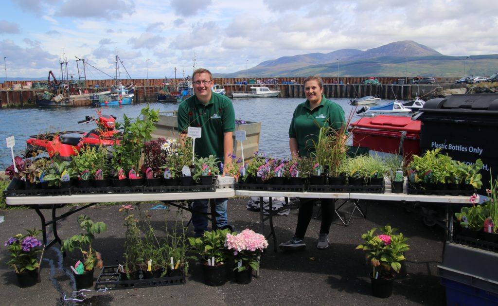 Andrew Glenn and Gayle Scougall of Saddell Nurseries sold plants.
