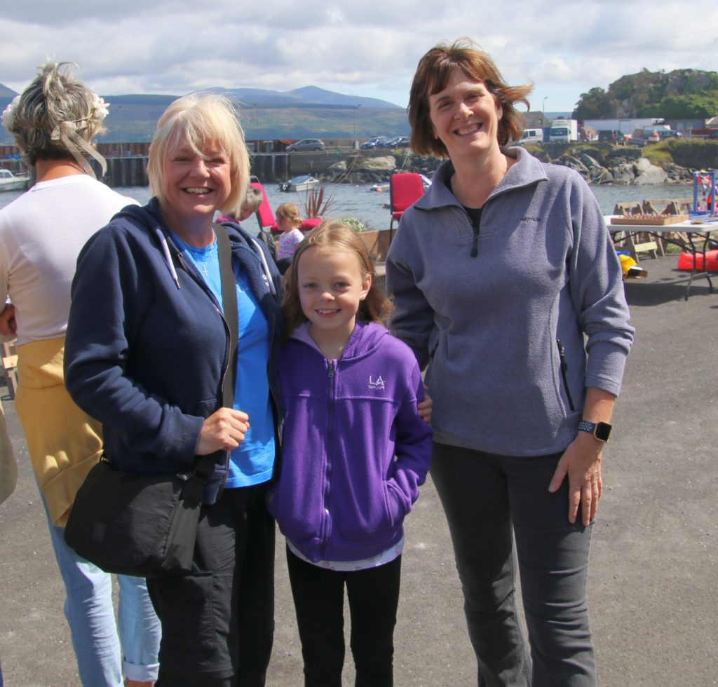 Diane McCaig, Gemma McCaig and Judy Semple enjoyed the event.