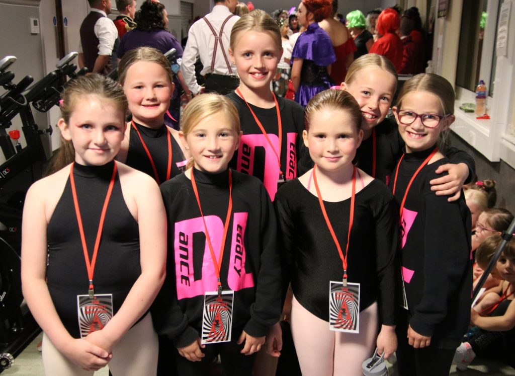 Some of the members of Dance Legacy who danced to Never Enough.
