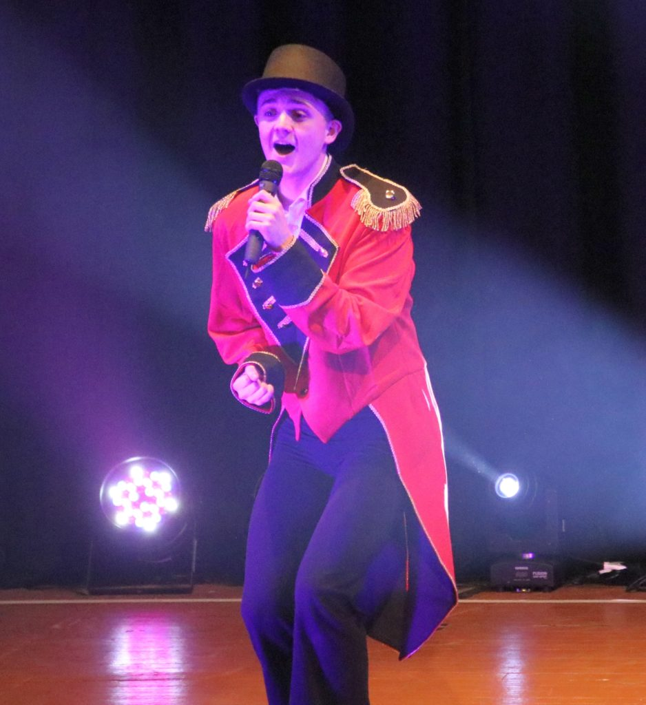 Musical theatre student Ally Kennard was one of the few performers not from Campbeltown. He sang Come Alive and joined fellow musical theatre student, Hannah Black, to dance to Re-write the Stars.