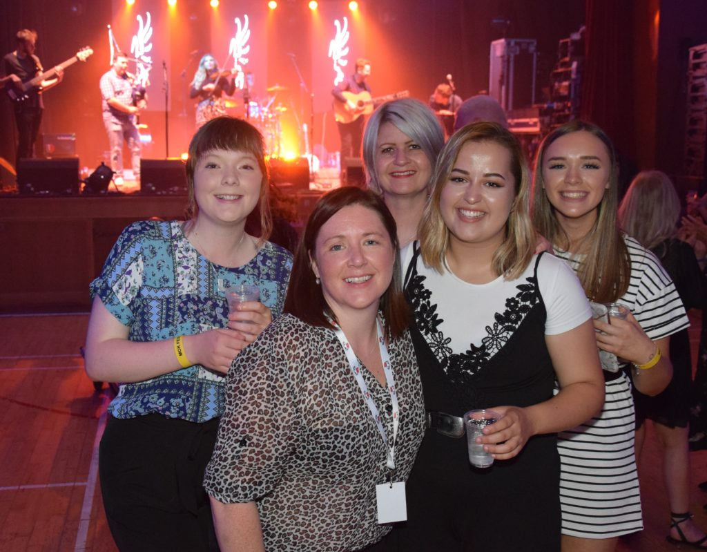 Kate MacPherson, Louise Mackay, Eilidh Smith, Jennie Maclean and Alex Wotherspoon at Saturday's West Coast Rocks Concert.