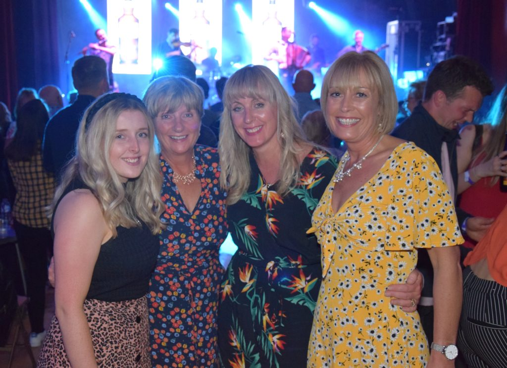 Claire Harvey, Wilma McCormick, Michelle Wilson and Heather McFadyen enjoyed Saturday's night Victoria Hall concert.