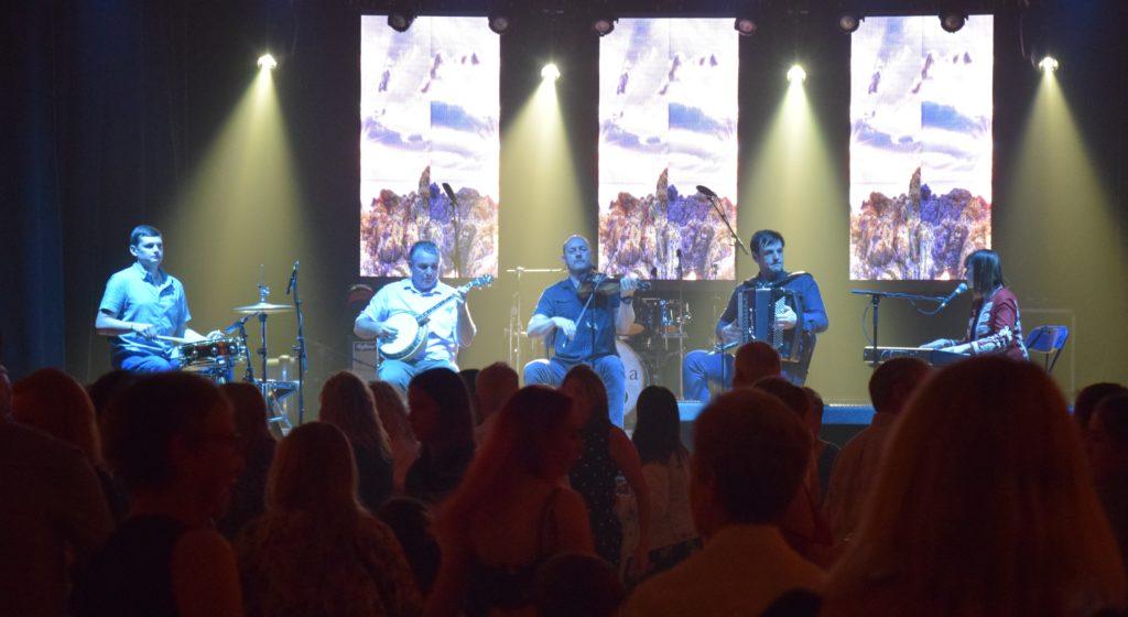 The Glenfinnan Ceilidh Band got people on their feet.