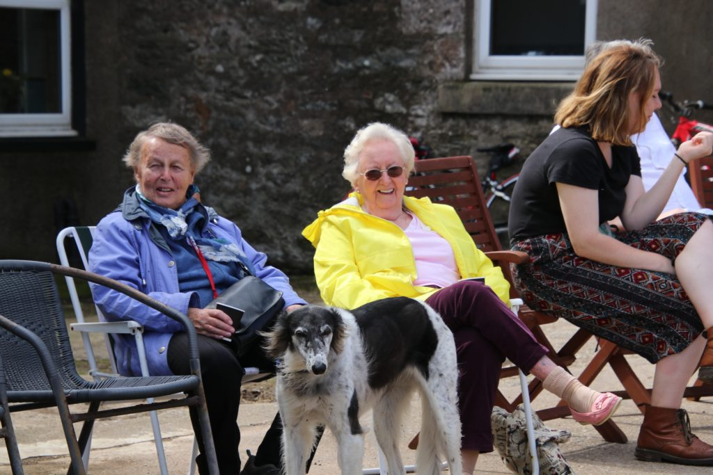 Frances Hood and Ann Morrans enjoy a seat during the open day.