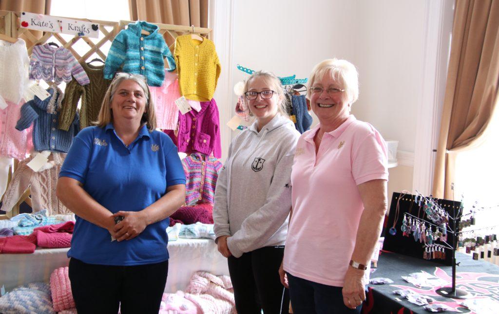 Andrina Mcaulay of IKM Crafts, Rhona O'May, and Kate O'May, of Kate's Krafts were at the event.