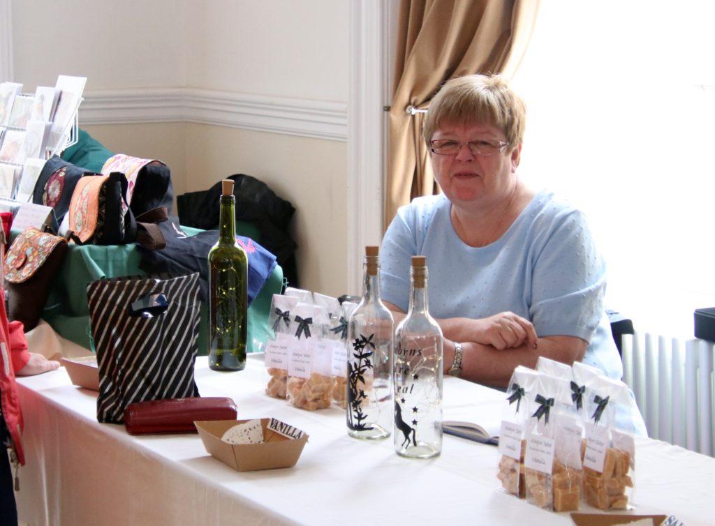 Margaret McShannon sold some of her tasty Kintyre Tablet.