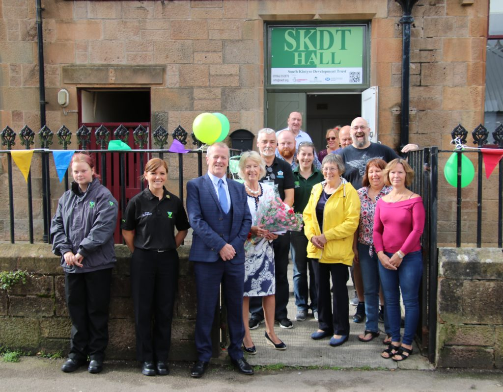 Some of those who turned out the the official opening of SKDT Hall.