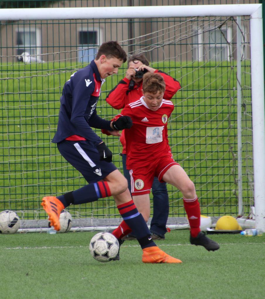 Calum Ellis scored twice for the Pupils Youth.