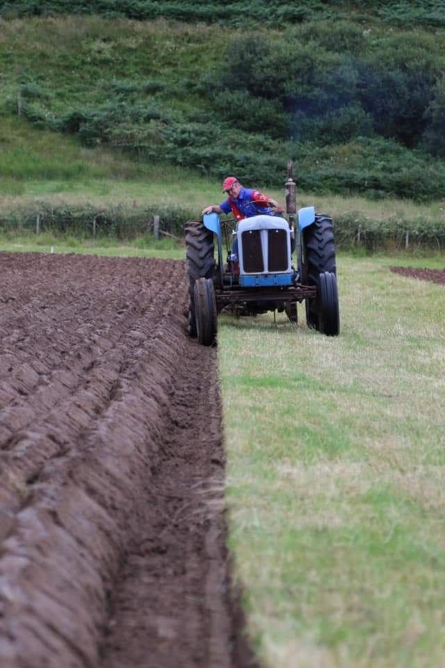 Michael Mayberry, 2nd overall and winner best ploughing from Largieside. Photograph: Will Anderson
