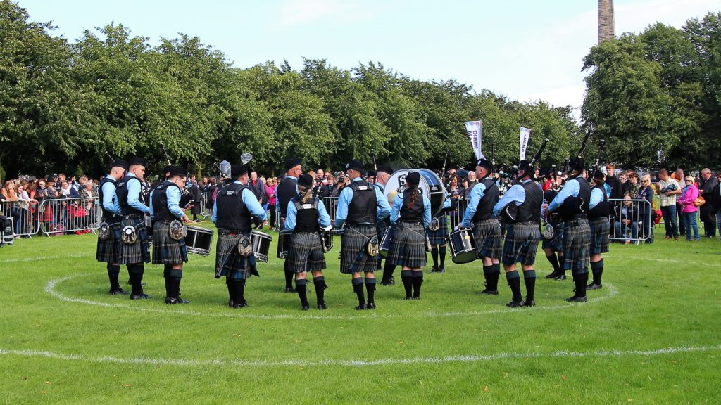 Beinn an Tuirc Kintyre 3A band during its performance.