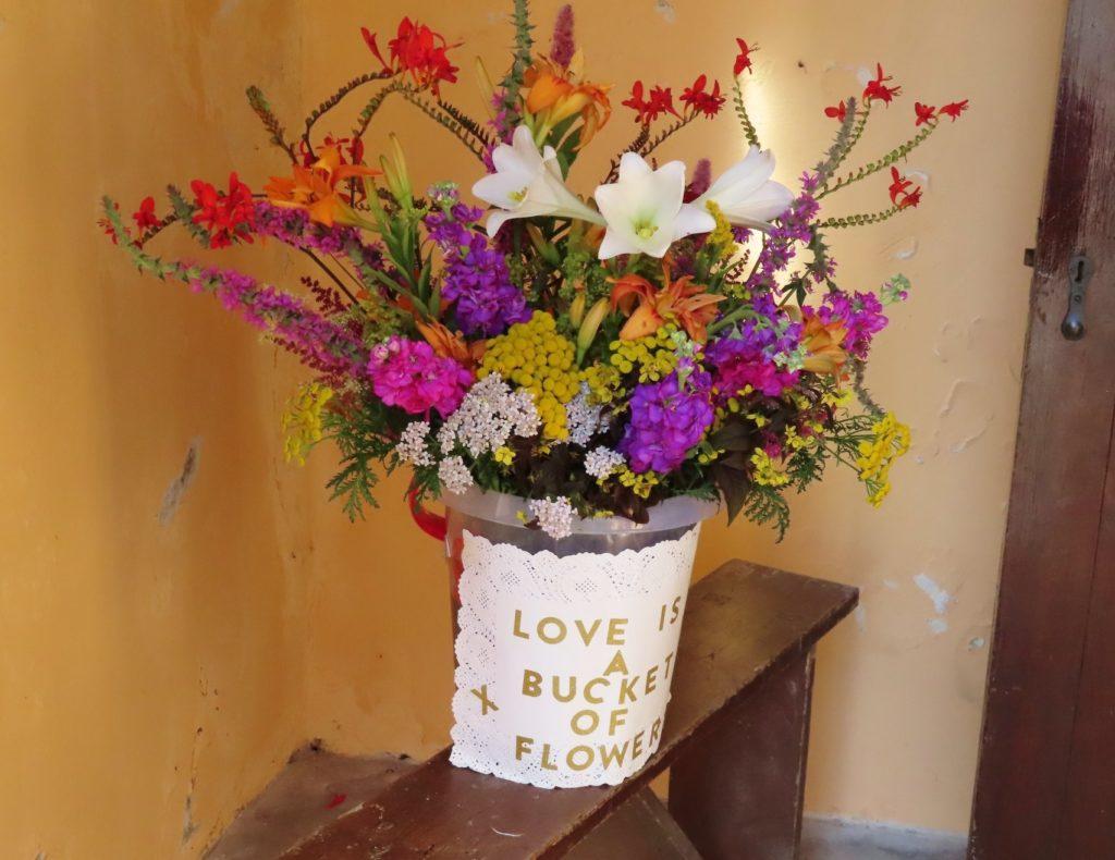'Love is a bucket of flowers.'