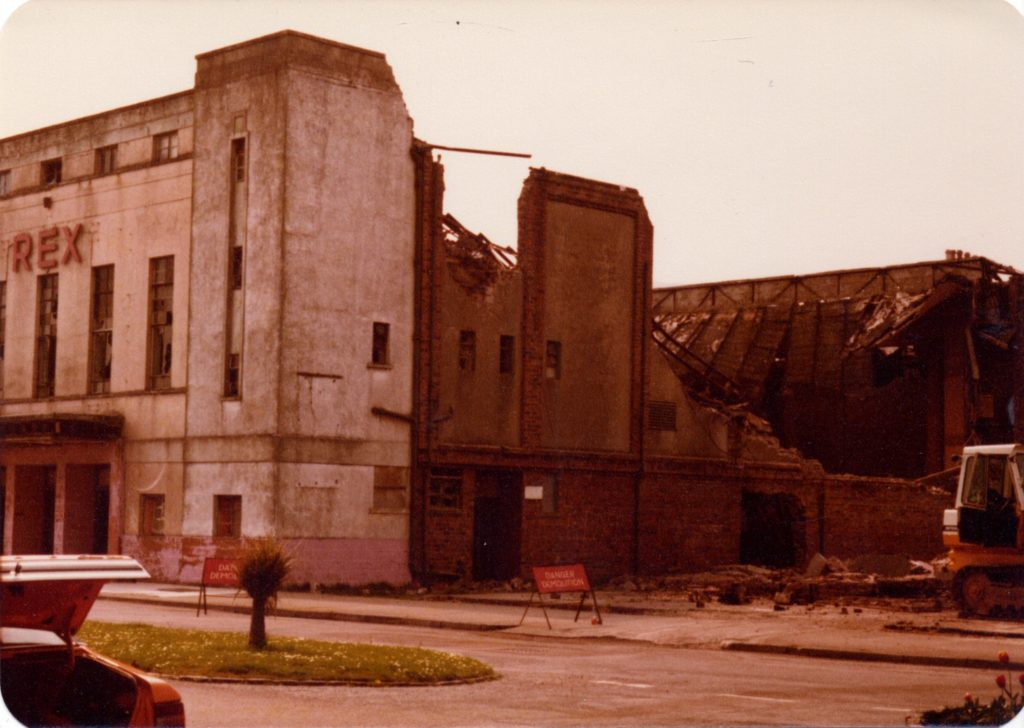The Rex cinema being demolished in May 1981.