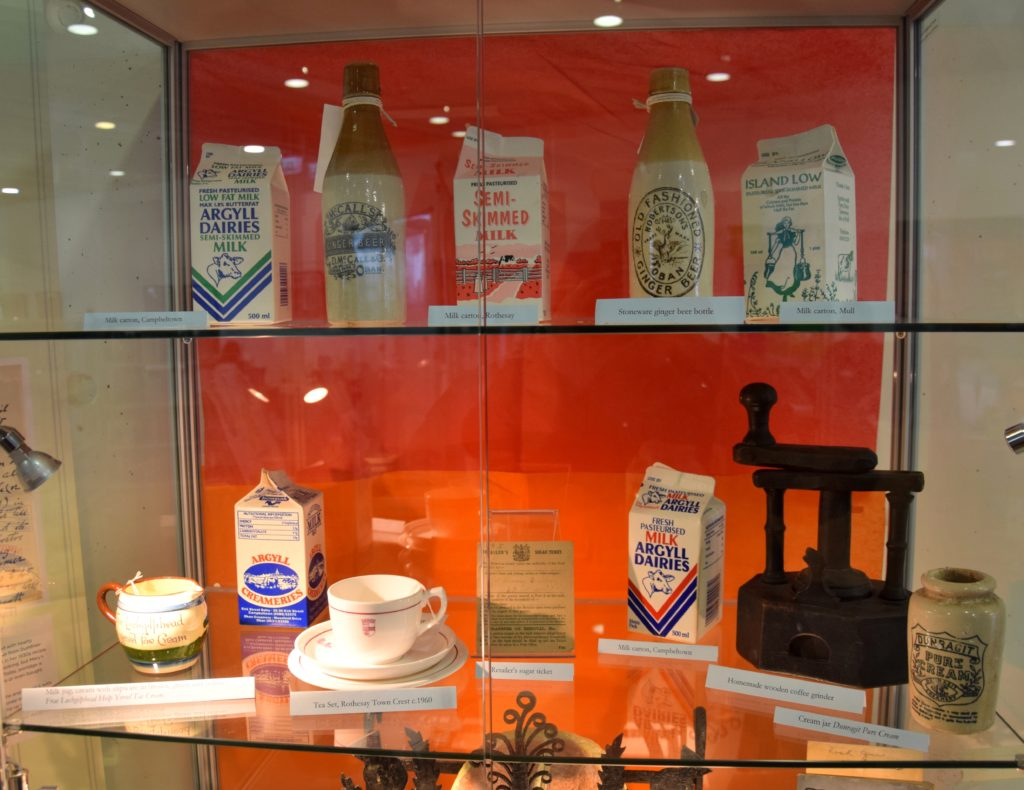 Some of the artefacts on display alongside the exhibition.