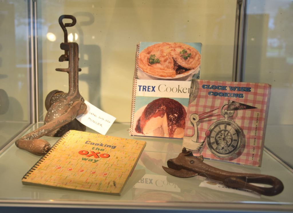 Utensils and cookbooks were some of the loaned items.
