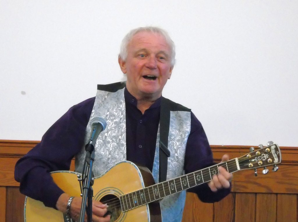 Alistair performing at the Free Church concert.