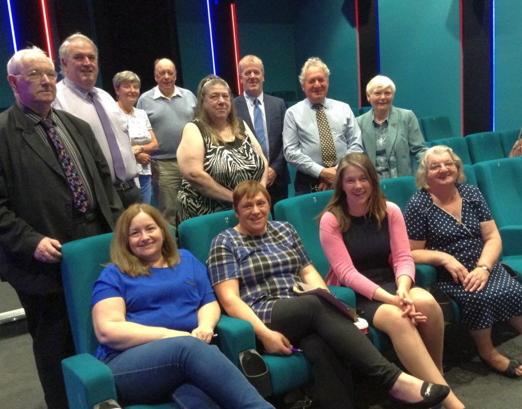 Aileen Campbell MSP, front, second from the right, at the meeting at Campbeltown Picture House.