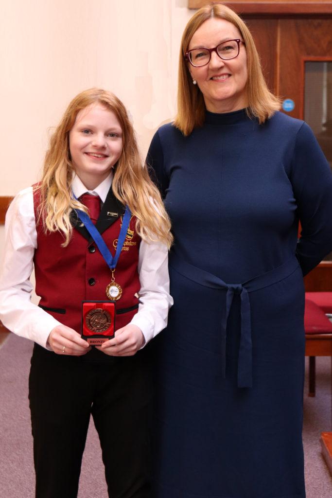 Fourth placed junior soloist Hannah McCaig.