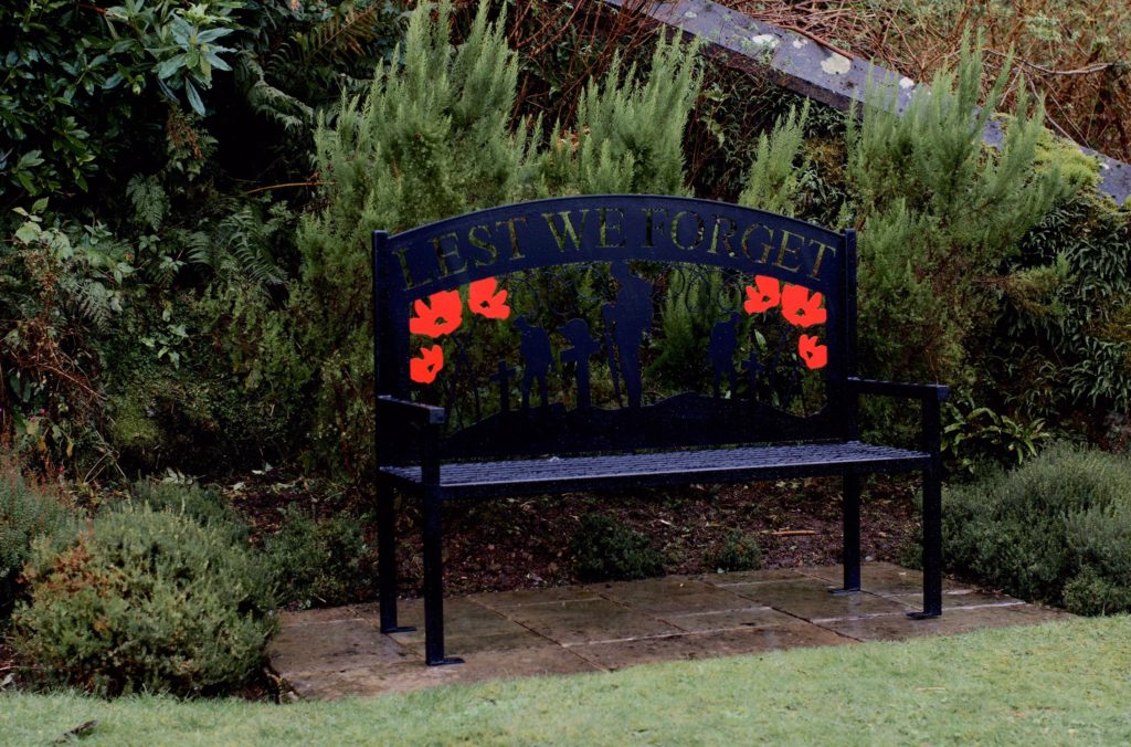 The new bench in situ at Kilkerran Cemetery.