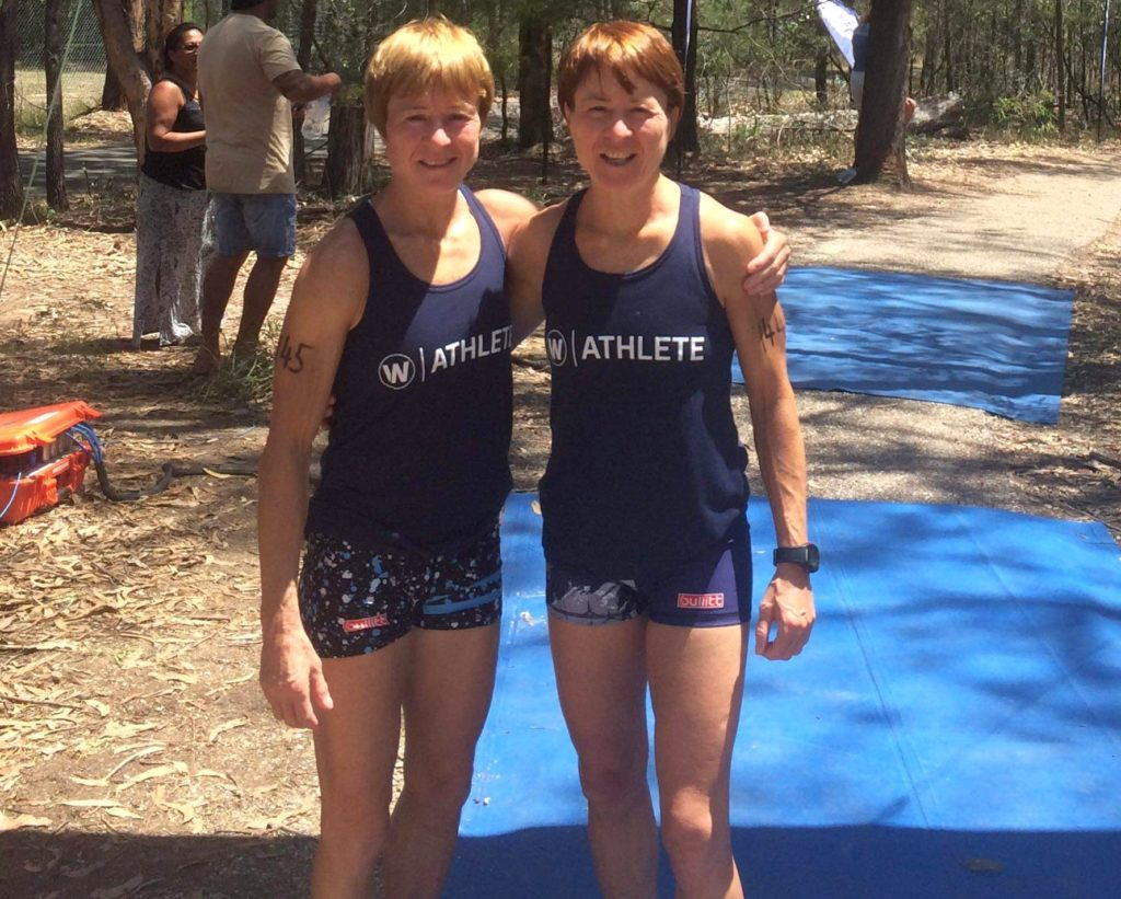 Donna and Fiona Robertson representing the UK at the iF3 Masters World Championships.