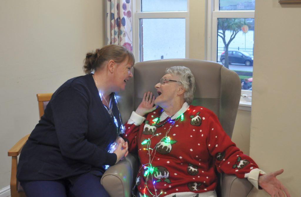 June Findlay enjoys a song with her mum, Nan Findlay.