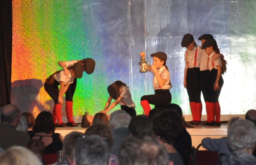 The young dancers put on a show for a packed audience.