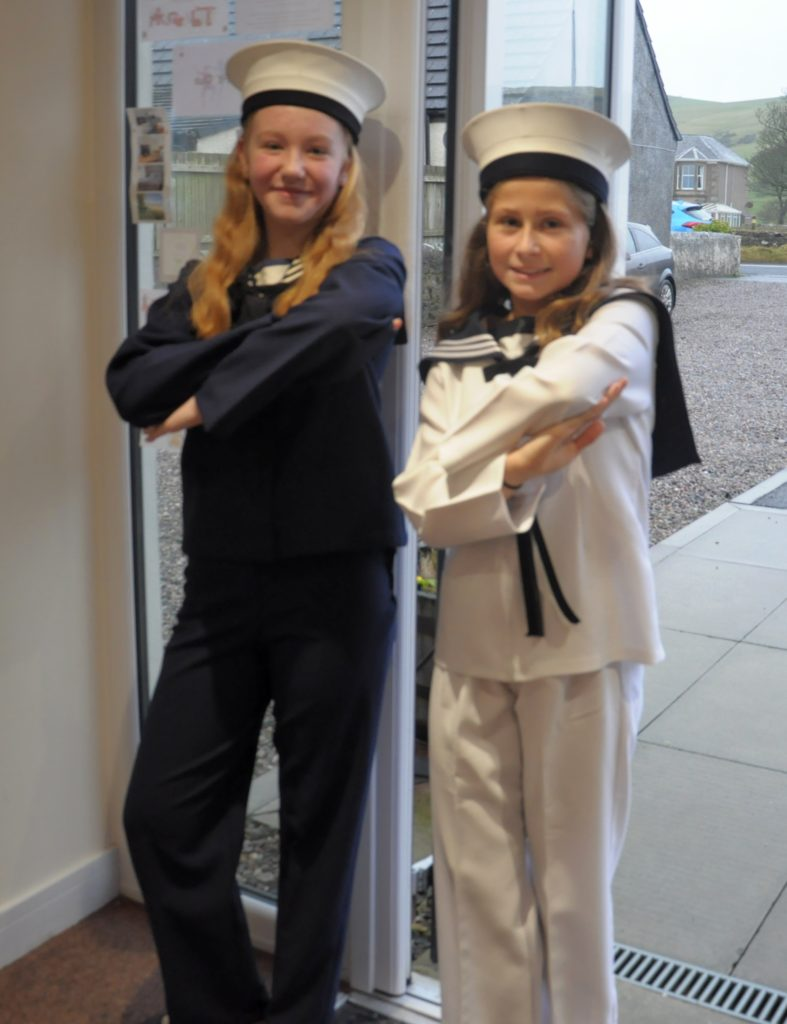 Olivia Veitch and Tiffancy Norris who performed The Ocean of the Free at Saturday's shows.