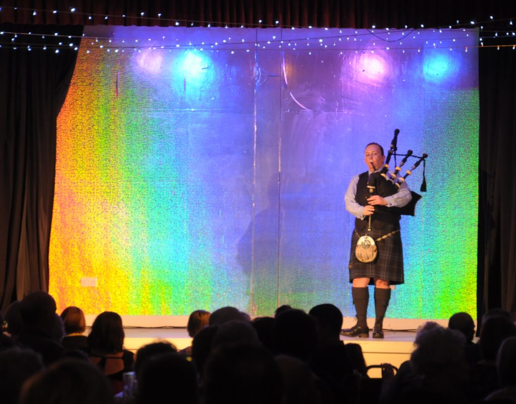 Beinn an Tuirc Kintyre Pipe Band's Pipe Major Julie Blue performed at the event, titled Celtic Heritage.