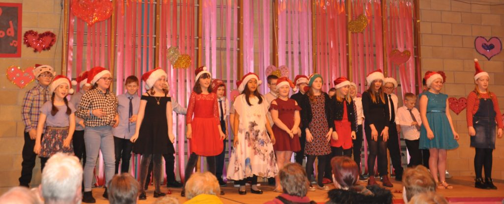 P6 got into the swing of things when they sang You Can't Hurry Love by Phil Collins, and All I Want for Christmas is You by Mariah Carey.