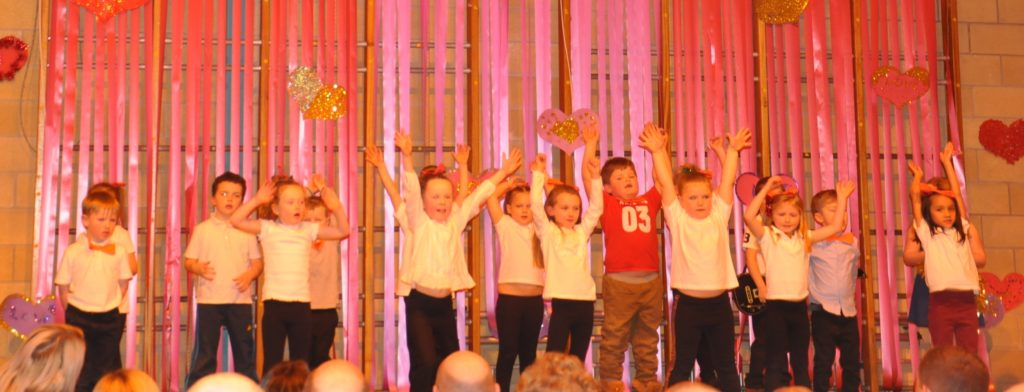 P2 gave it their all when they sang Lean on Me by Bill Withers, and We Are Family by Sister Sledge.