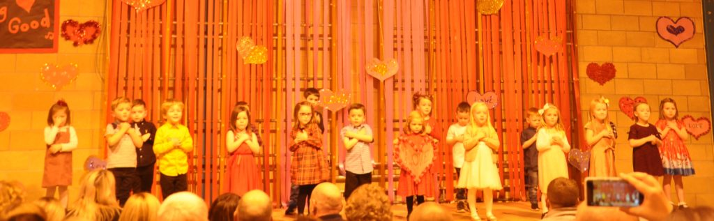 In their first school show, P1 performed Believe by Cher, and Crazy Little Thing Called Love by Queen.