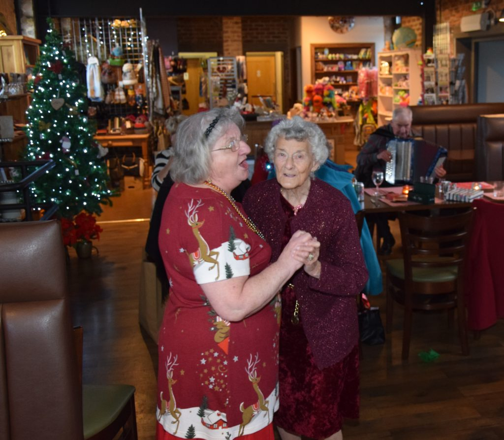 Cathie Duncan and Anna Viola enjoyed a dance.