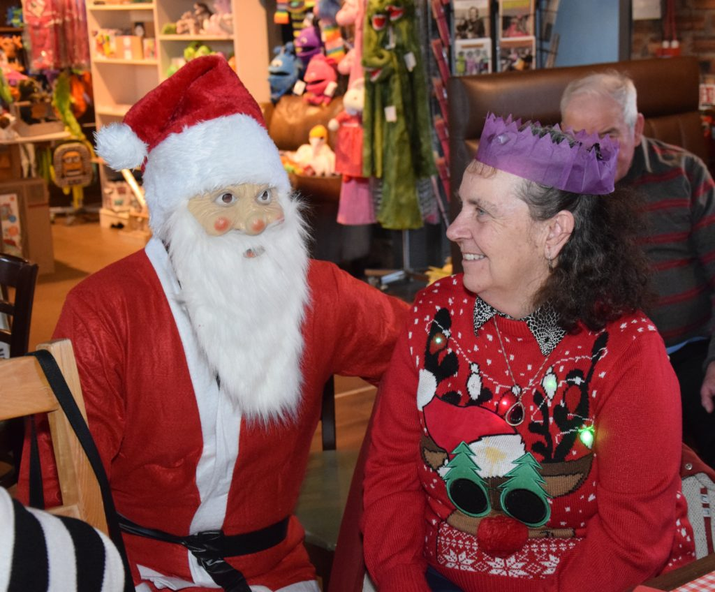 Barbara Hopes enjoyed meeting Santa.