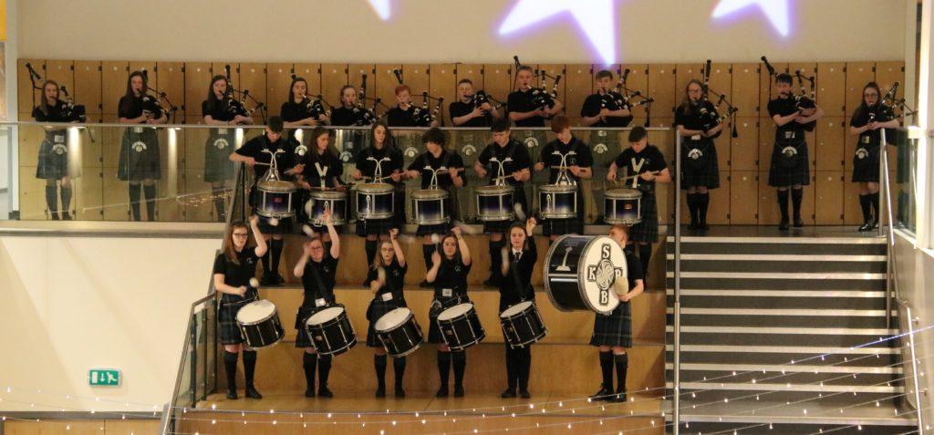 Kintyre Schools Pipe Band opened proceedings.