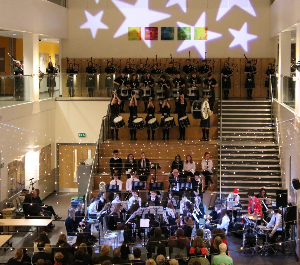 The show took place in the school's atrium.