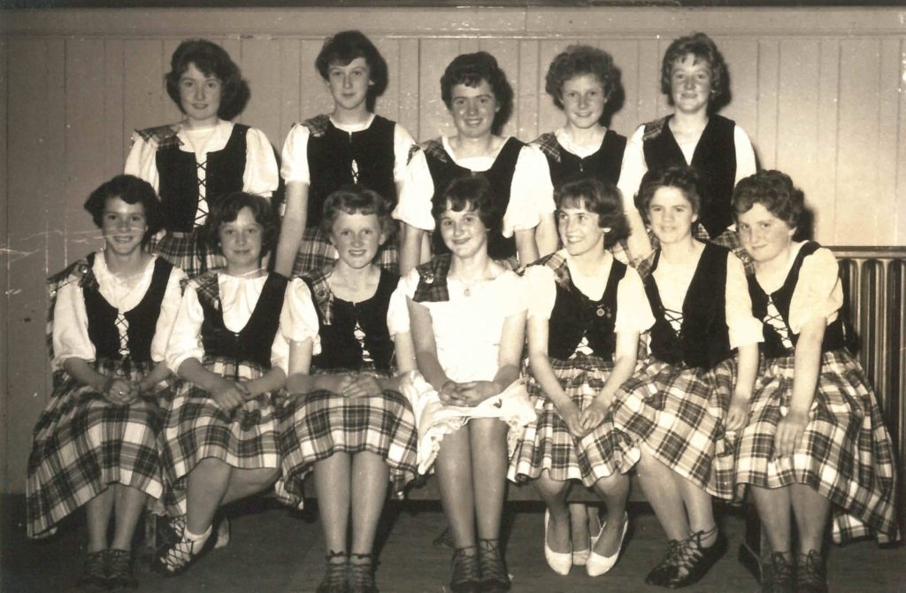 The back of this photograph reads: 'Babette's County Dancing, circa 1960/61.' Are you in the image?