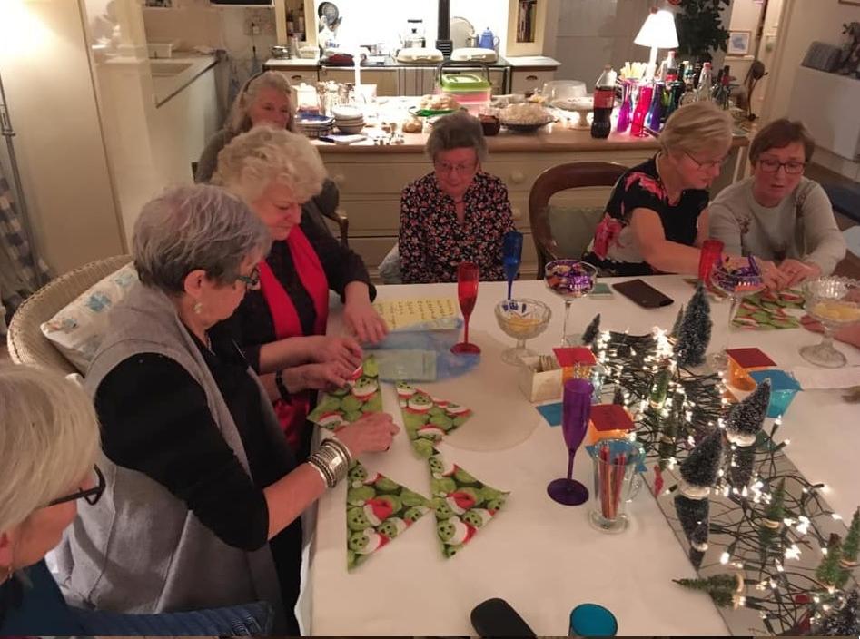 From left, Tricia Weeks, Liz Ball, Jane Griffiths, Margaret Mundell, Joyce Andrews and Jane McCallum enjoying some festive fun.