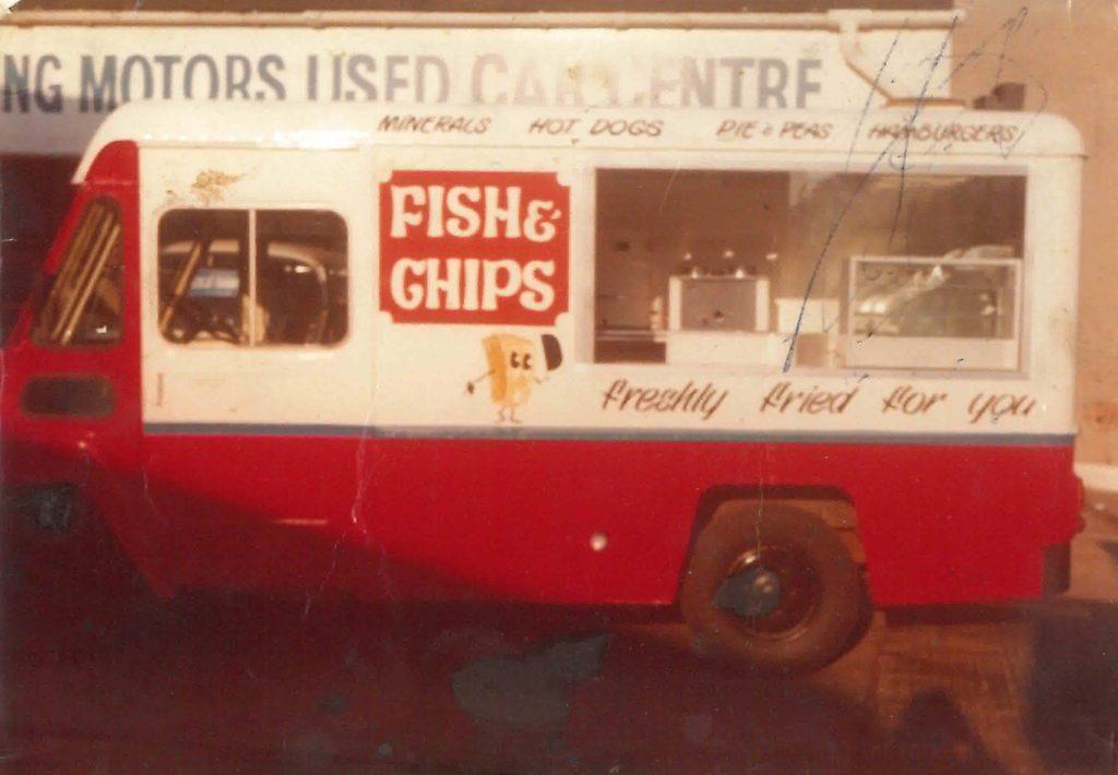The chip van which kick-started Robert's career.