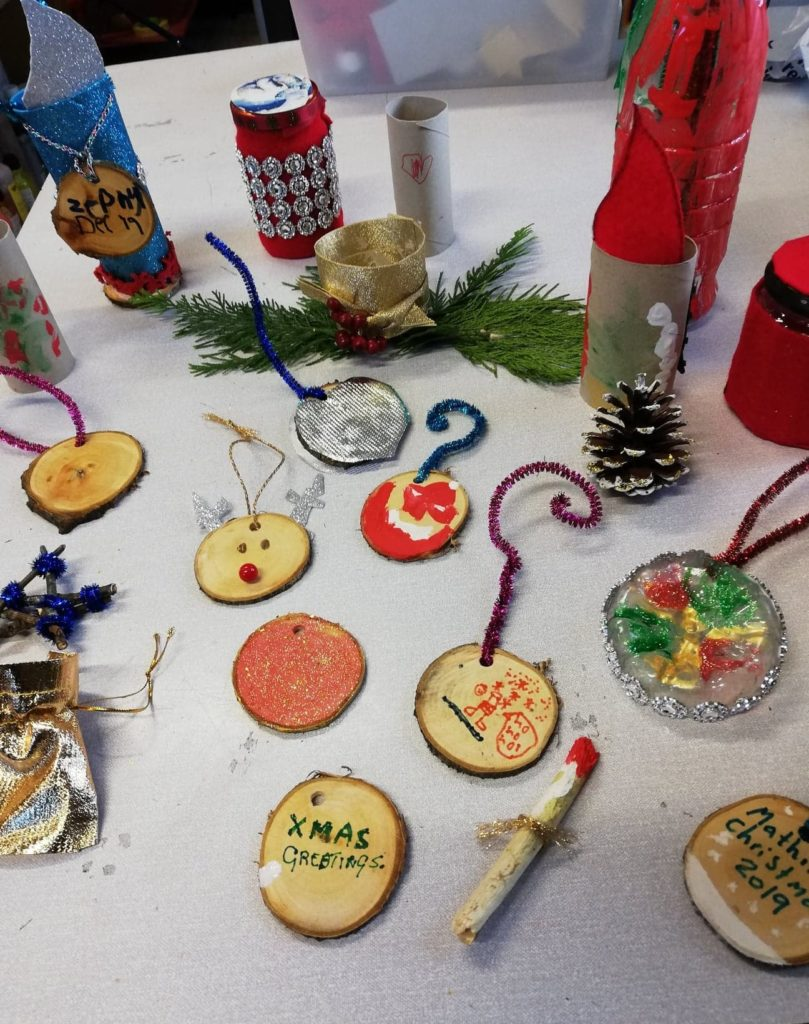 Clachan Primary School's Waste-Free Christmas creations.