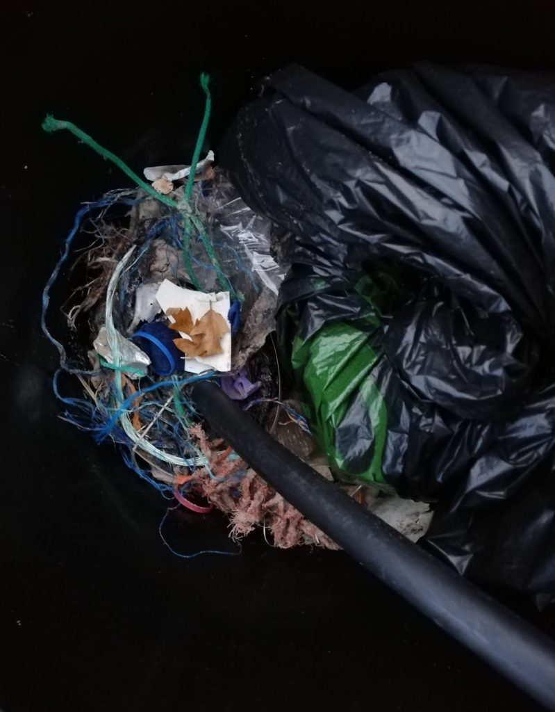 Some of the litter discovered during a Clachan beach clean.
