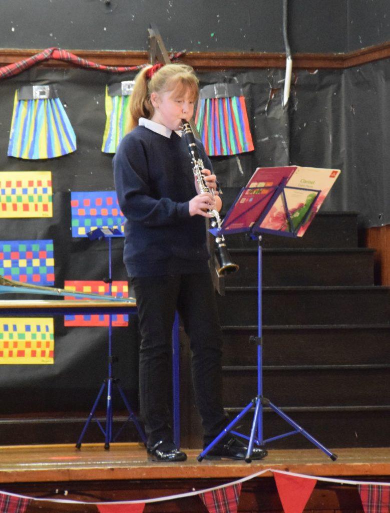 Clarinet player Emma.