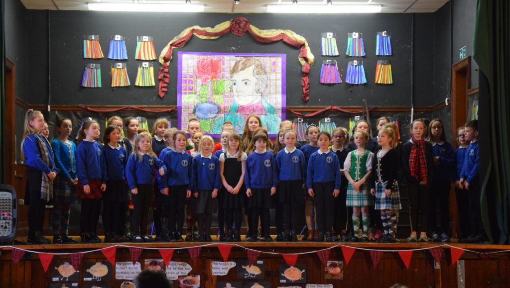 The school choir ended the afternoon on a high.