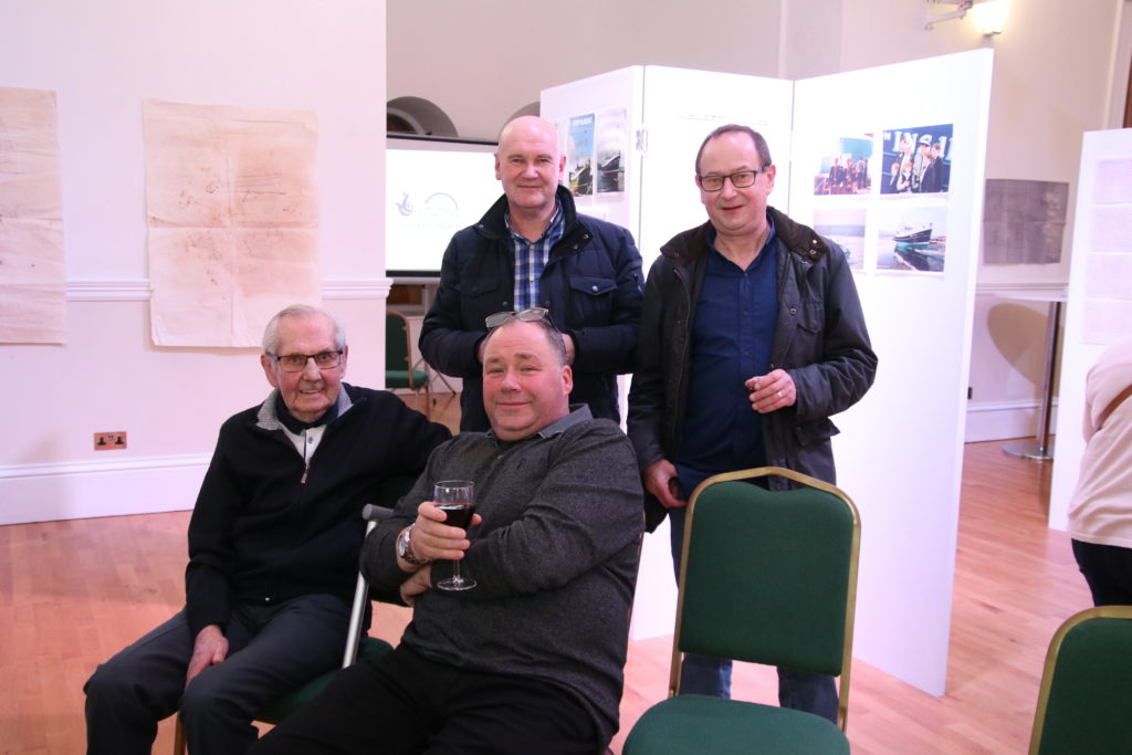 Back row from left: John Brown and Ian McCallum, Front: Willie Paterson and Rob Wilson. Photograph: Kenny Craig.