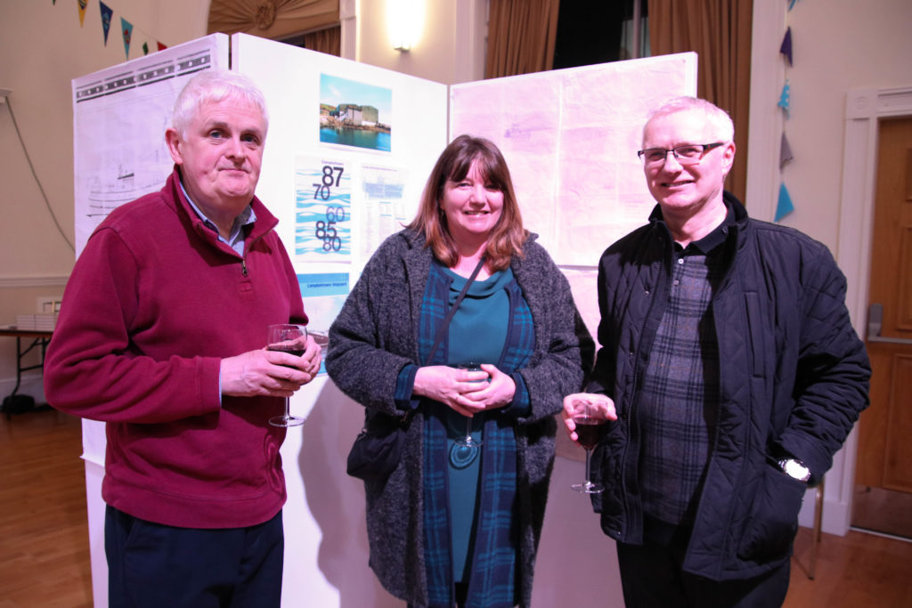 From left: Iain Munro, Hamish and Morag McMillan. Photograph: Kenny Craig.