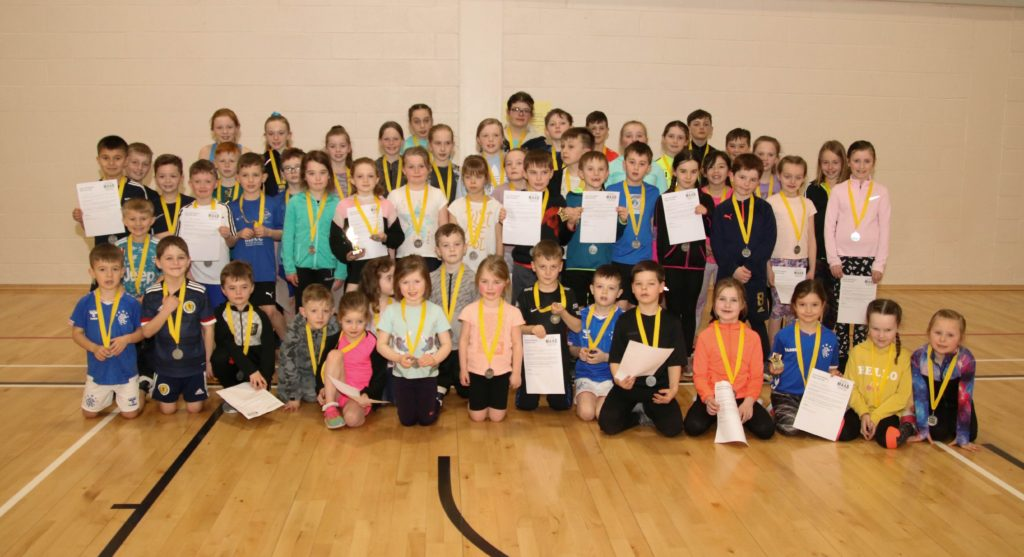 All the competitors who took part in the Kintyre competition.