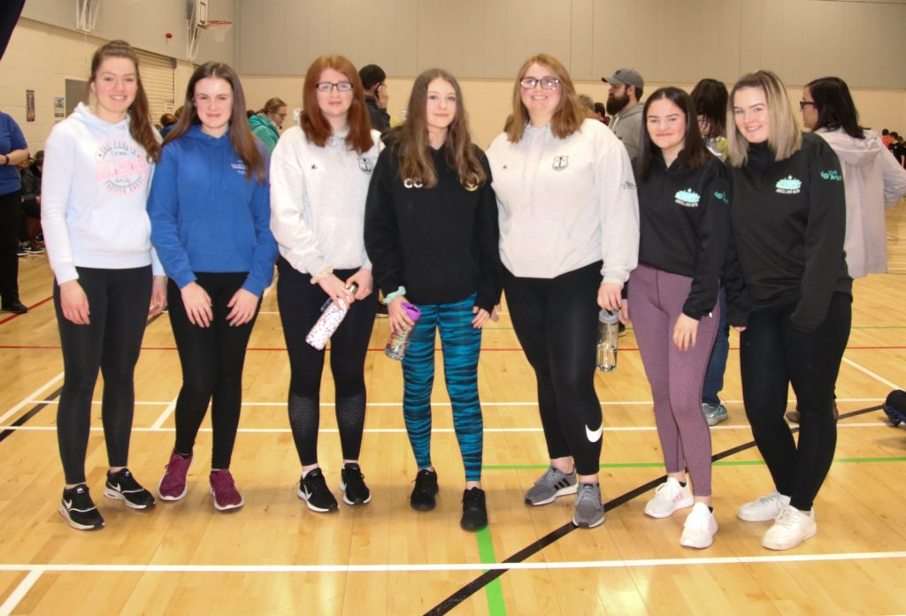 Some of the senior Campbeltown Grammar School students who assisted with the competition.