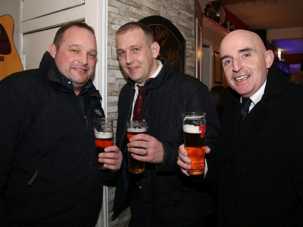 Fergus Walker, Darren Kelly and John McKinlay.