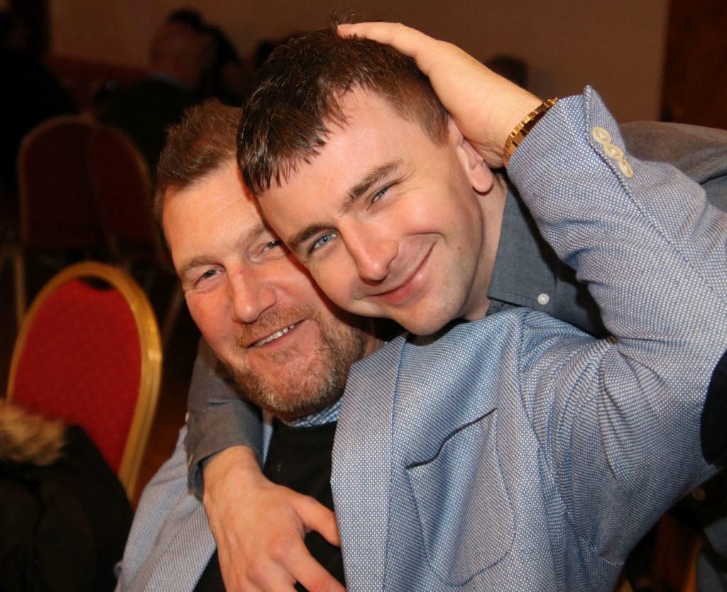 Raymond Harvey and Robbie Herbertson enjoyed the charity evening.