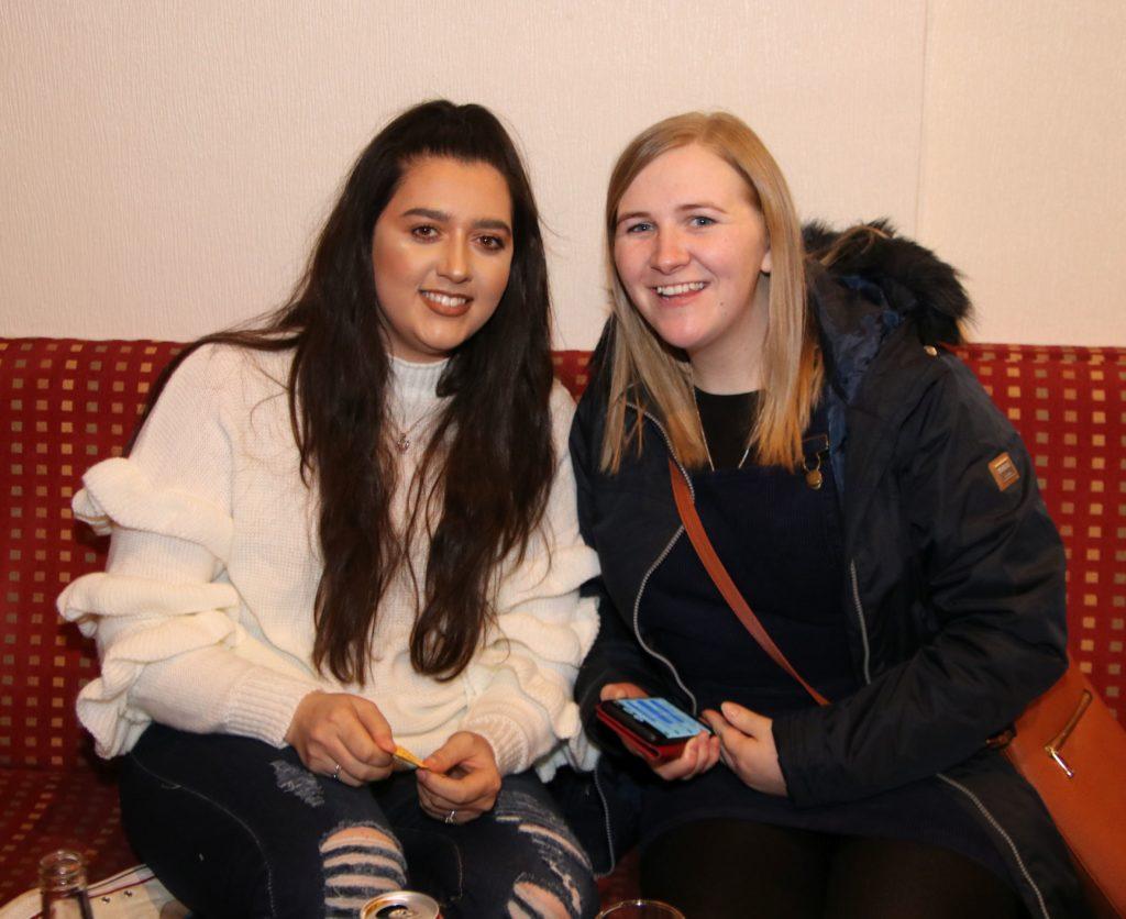 Carla Jackson and Janna Brown at the nursery fundraiser.
