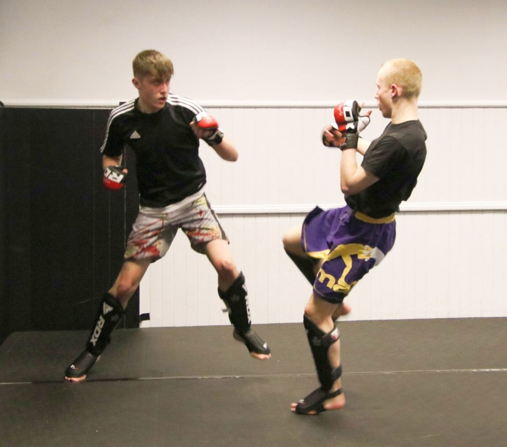 Gregor Campbell and Aiden Hart take to the mat.